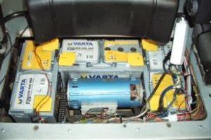Motorraum mit Pacific Scientific und Shunt