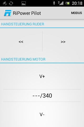 RiPower-Pilot-Handsteuerung